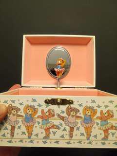 Teddy ballerina jewellery box