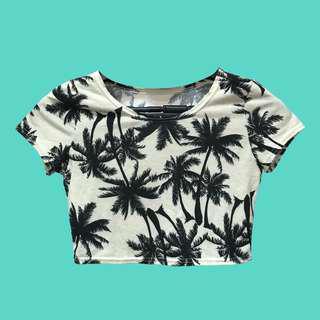 椰子樹短版上衣 (米色)