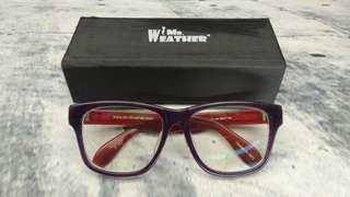 Mr Weather 眼鏡 紫色框紅紅臂