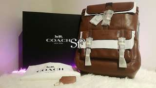 COACH (Original) Bleeker Calf Leather Backpack