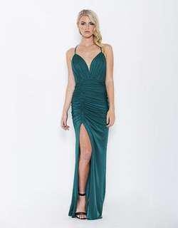 bariano forest green dress