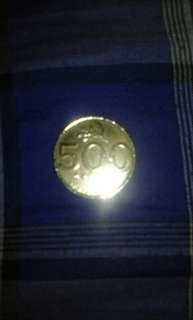 Uang coin 500  thn 2000  di jual murah
