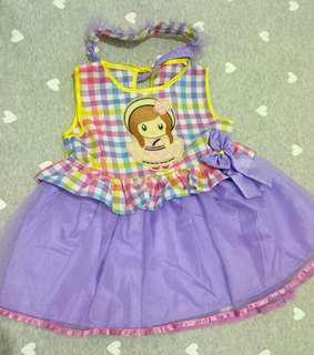 Dress anak / rok terusan ungu