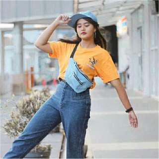 waist bag jeans