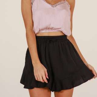 Wild Thoughts Shorts in Black