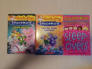 英文故事書 (3本) Spacemice - Alien Escape , You're mine captain and Sleep Overs