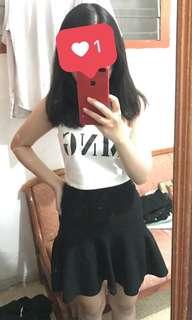 rok hitam polos