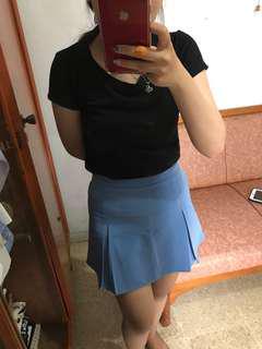 BKK rok celana light blue