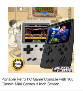 Retro Portable Gameboy Console with 168 Build In Games