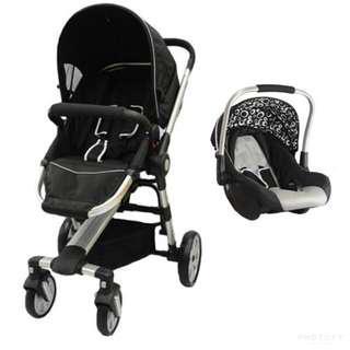 Halford zuzz 4 stroller+infant carseat