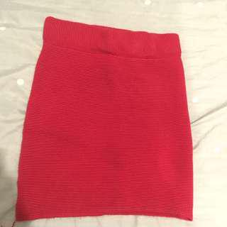 Red Bodycon Tight Skirt