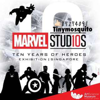 🚚 Marvel studio @Artscience! Tickets for sale!