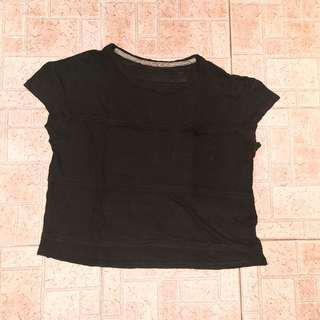 🚚 黑色百搭透膚T-shirt #女裝88