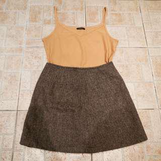 🚚 Sisley土黃色細節帶小背心 #女裝88