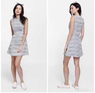 BNWT Love Bonito Defayne Contrast Trim Tweed Dress Size S