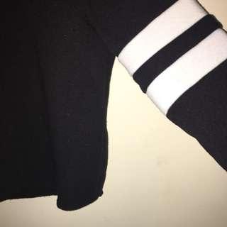 black and white valleygirl jumper