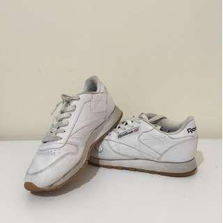 reebok classic white lace up
