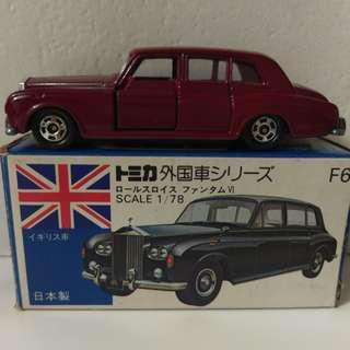 Tomica F6-1-2 Rolls Royce 棗紅色