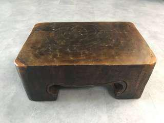 Solid wood stool