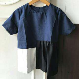 Blouse top navy