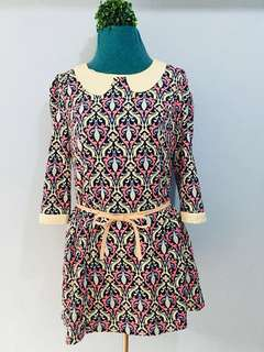 Collared Vintage Mini Dress