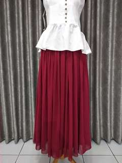 Red Tutu Maxi Skirt