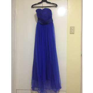 Blue Gown for Sale (with optional multiway Tulle straps)