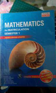 Mathematics for Matriculation semester 1