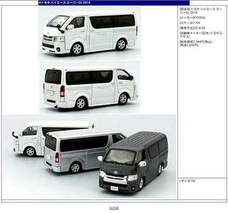 徴kyosho Toyota Hiace 1:64 黑 白 開過或冇盒都無所謂 求割愛 (網上借圖)