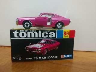 全新絕版tomica 黑黃盒 toyota celica LB 2000gt