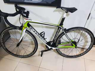 Cannondale synapse full carbon bike with fulcrum quattro wheelset...