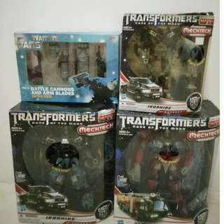 Transformers  DOTM leader class Ironhide with add on & Sentinel Prime