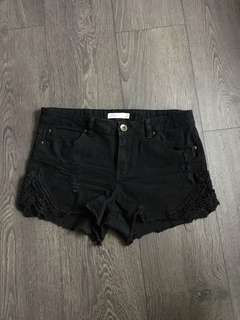 Ardene Lace Detail Shorts Size Large Juniors- fits like a size 27
