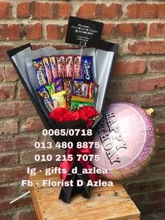 Chocolate bouquet n ballon