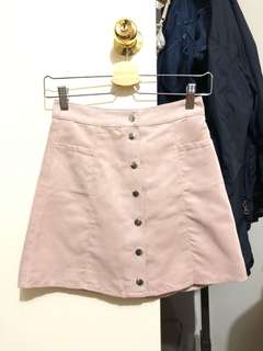 Faux Suede H&M Pink Skirt