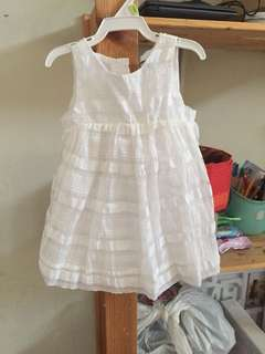 Baby gap white dress