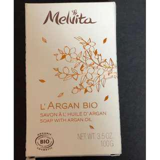 MELVITA SOAP WITH ARGAN OIL 有機摩洛哥堅果油香皂(包郵費)