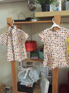 Twinning dress + shirt