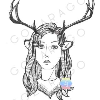 "{ARTWORK} Girl x Deer Print 5""x 7"""