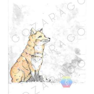 "{ARTWORK} Fox in the Snow Print 5""x 7"""