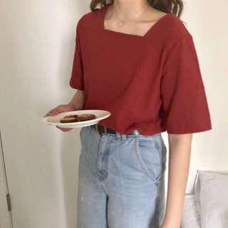 Korean Fashion Retro Style Chiffon Top / T-Shirt / Blouse