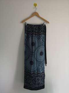 Self tie print skirt