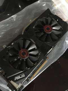 Nvidia Gtx 970 Asus Strix 4gb video card PCIE HDMI Gtx970