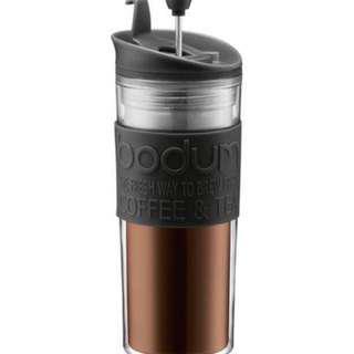 Bodum Travel Press Coffee Maker with Extra Lid 350ml Black - Original Box