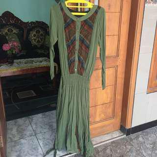 Dress hijau lumut army