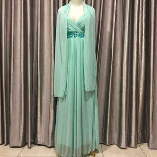 TOSCANY PARTY DRESS with SCARF