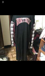 🚚 近新長版紅格子洋裝
