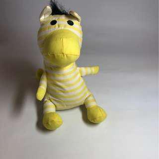 【免運費】超可愛小黃斑馬造型收納購物袋(可當吊飾+購物袋雙功能)