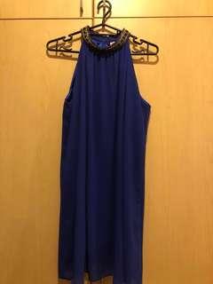 👗: (PRELOVED) Blue Dress With Blue Sash