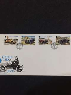 Jersey 1989 Vintage Cars FDC stamps